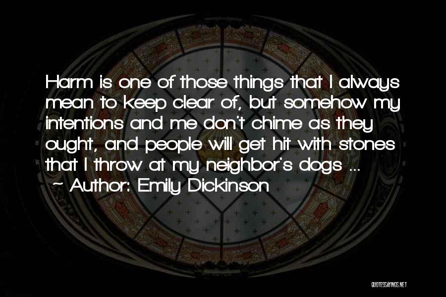 Don't Throw Stones Quotes By Emily Dickinson