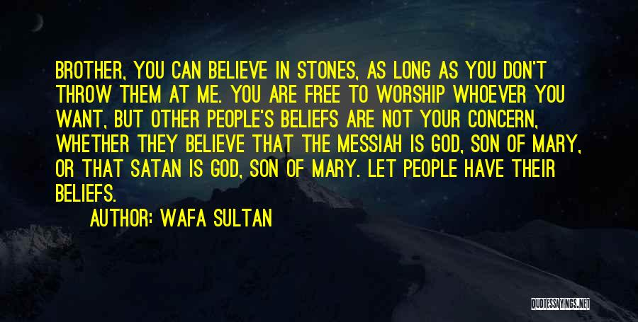 Don't Throw Stones Quotes By Wafa Sultan