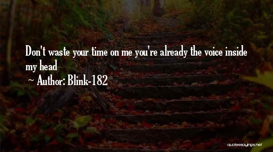 Don't Waste Your Time On Me Quotes By Blink-182