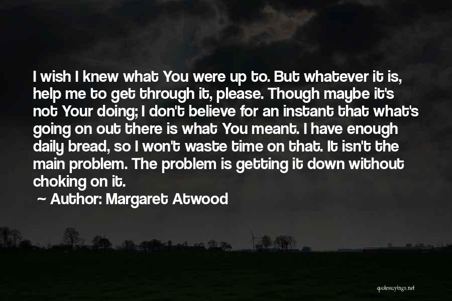 Don't Waste Your Time On Me Quotes By Margaret Atwood