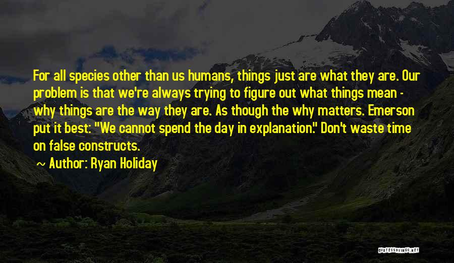 Don't Waste Your Time On Me Quotes By Ryan Holiday
