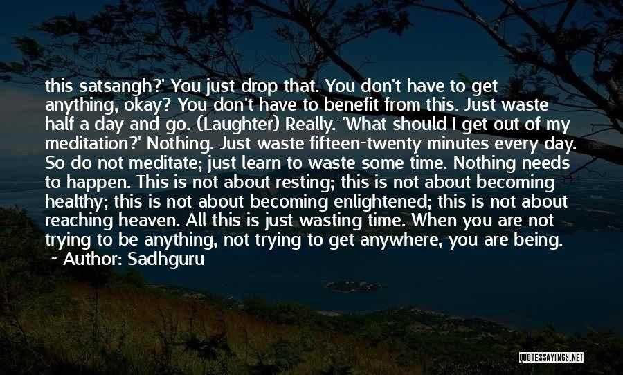 Don't Waste Your Time On Me Quotes By Sadhguru