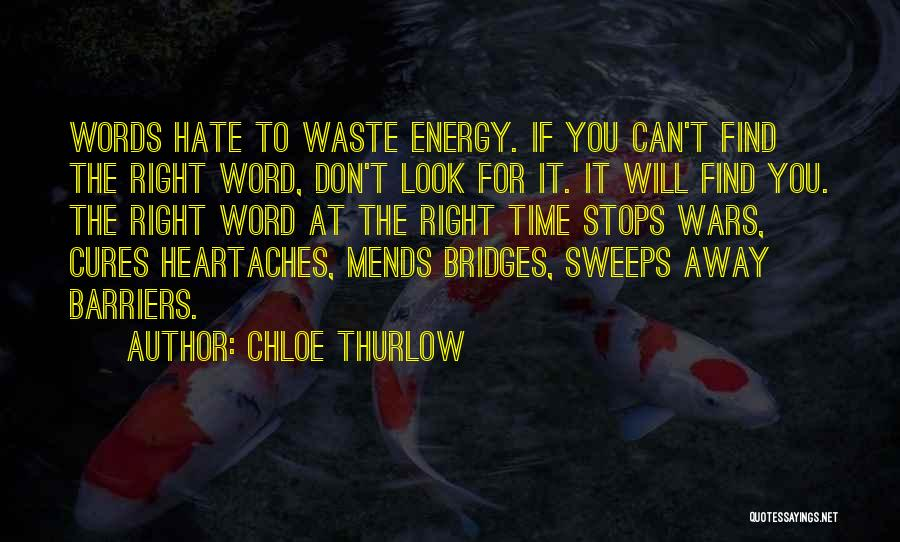 Don't Waste Your Words Quotes By Chloe Thurlow