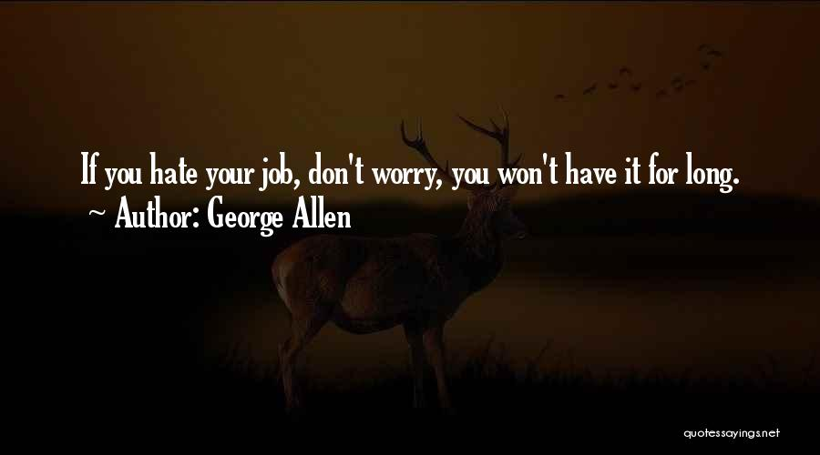 Don't Worry All Is Well Quotes By George Allen