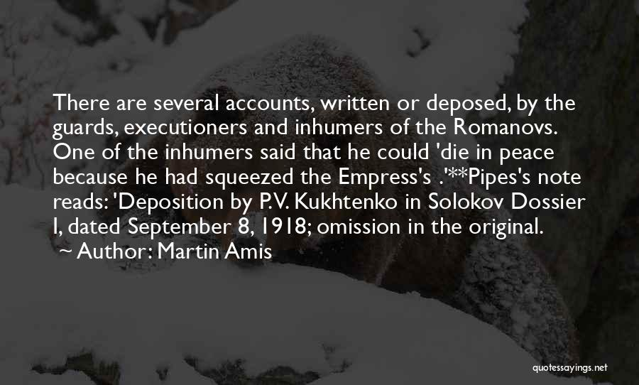 Dossier Quotes By Martin Amis