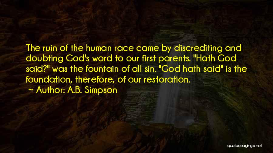 Doubting God Quotes By A.B. Simpson