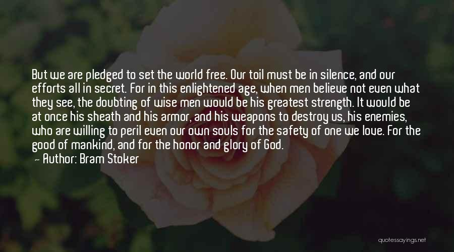 Doubting God Quotes By Bram Stoker