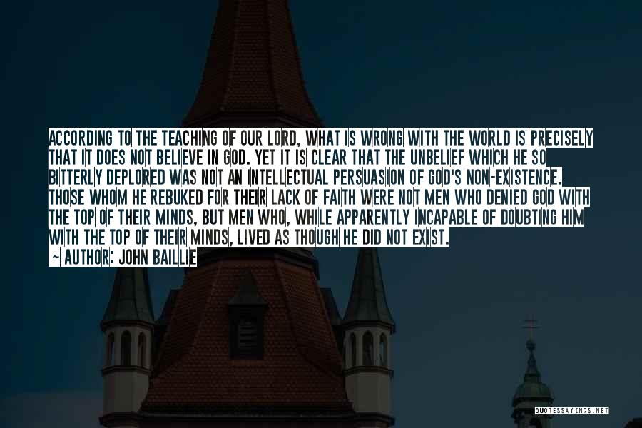 Doubting God Quotes By John Baillie