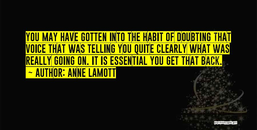 Doubting Us Quotes By Anne Lamott