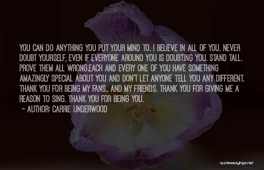 Doubting Us Quotes By Carrie Underwood
