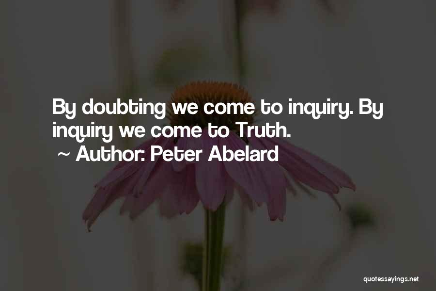 Doubting Us Quotes By Peter Abelard