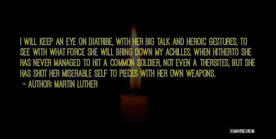 Down Talk Quotes By Martin Luther