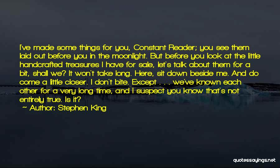Down Talk Quotes By Stephen King