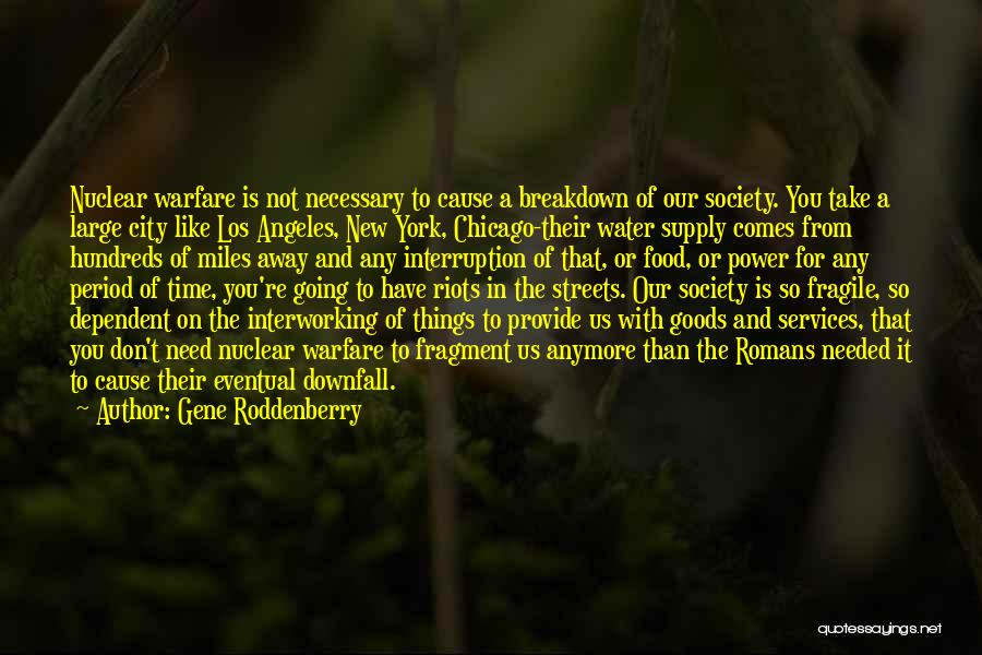 Downfall Of Society Quotes By Gene Roddenberry