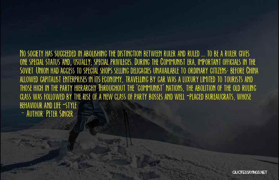 Downfall Of Society Quotes By Peter Singer