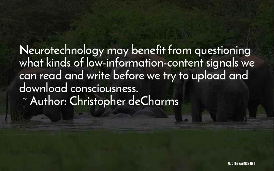 Download Quotes By Christopher DeCharms