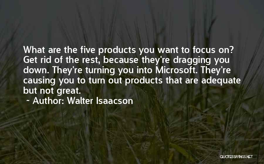 Dragging Me Down Quotes By Walter Isaacson
