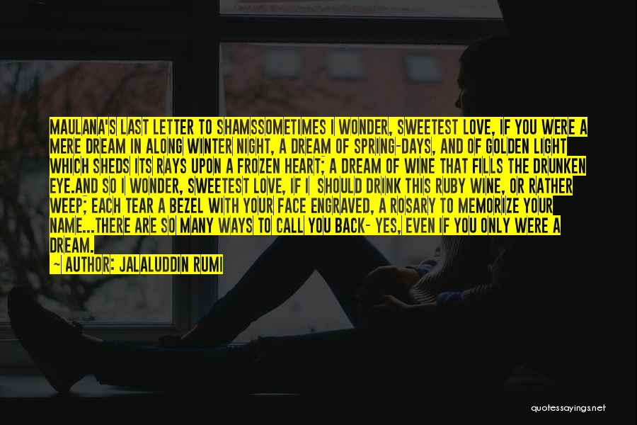 Dream And Love Quotes By Jalaluddin Rumi