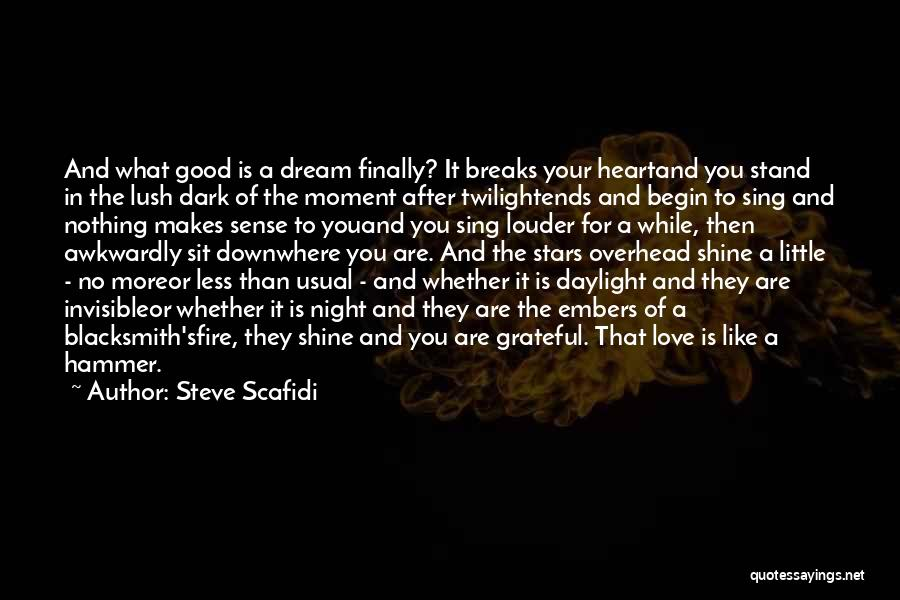 Dream And Love Quotes By Steve Scafidi