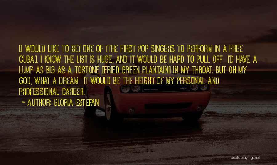 Dream Big God Quotes By Gloria Estefan