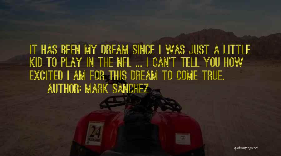 Dream Play Quotes By Mark Sanchez