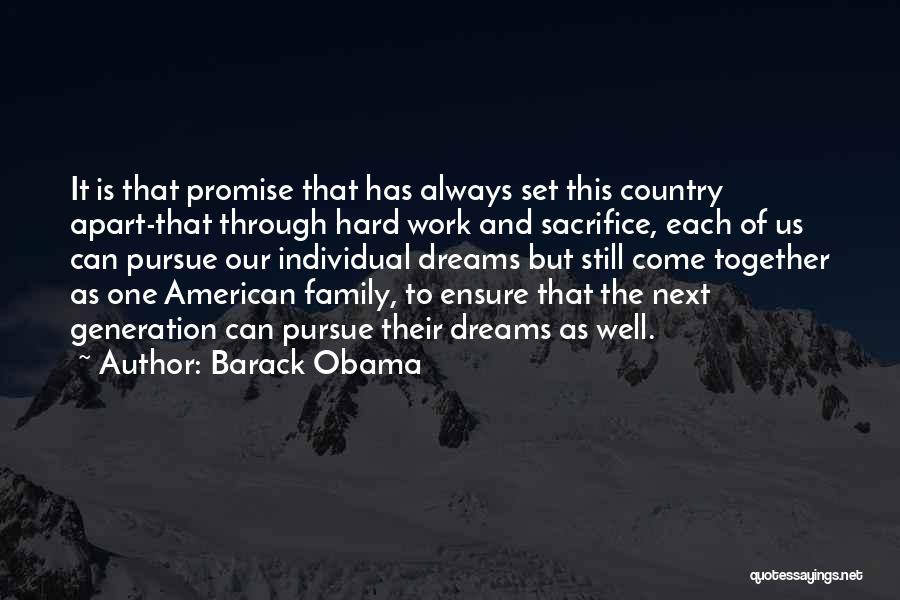 Dream Work Hard Quotes By Barack Obama