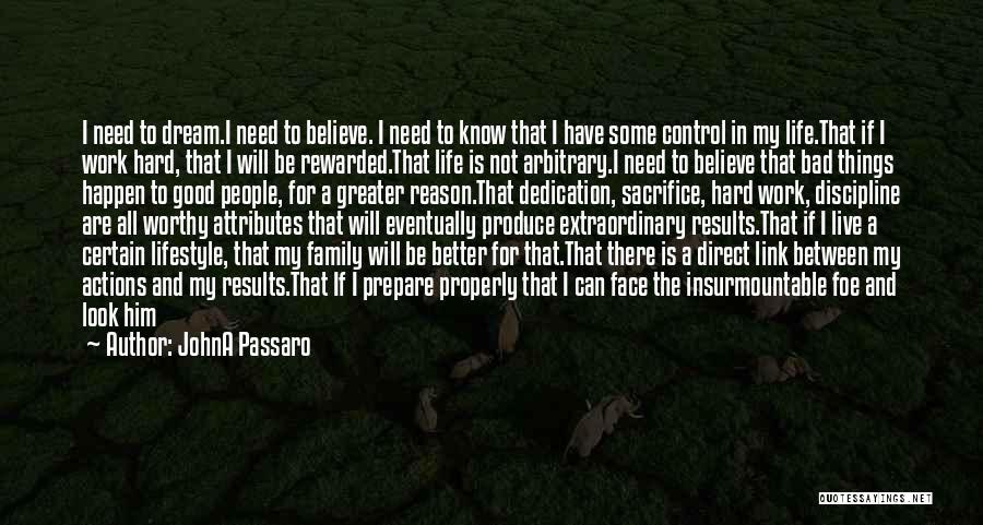 Dream Work Hard Quotes By JohnA Passaro