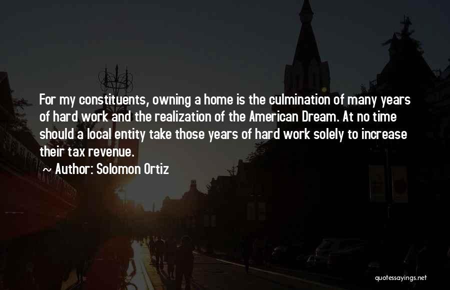 Dream Work Hard Quotes By Solomon Ortiz