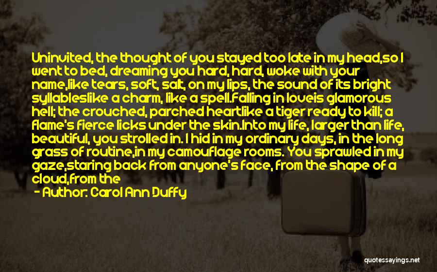 Dreaming Of Someone You Like Quotes By Carol Ann Duffy