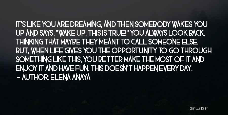 Dreaming Of Someone You Like Quotes By Elena Anaya