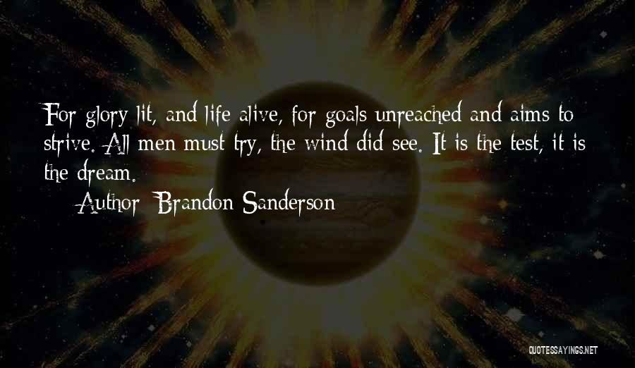 Dreams And Aims Quotes By Brandon Sanderson