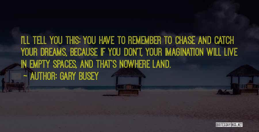 Dreams And Imagination Quotes By Gary Busey
