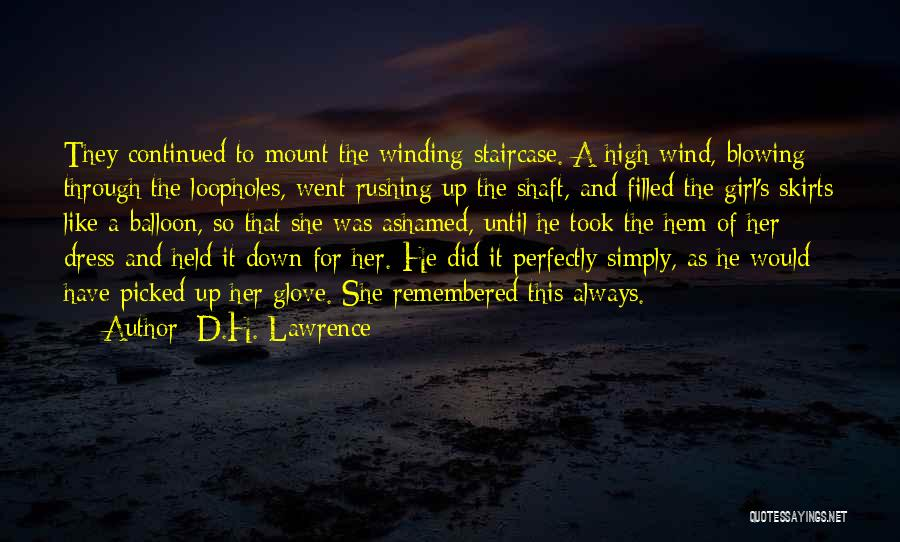 Dress Skirts Quotes By D.H. Lawrence