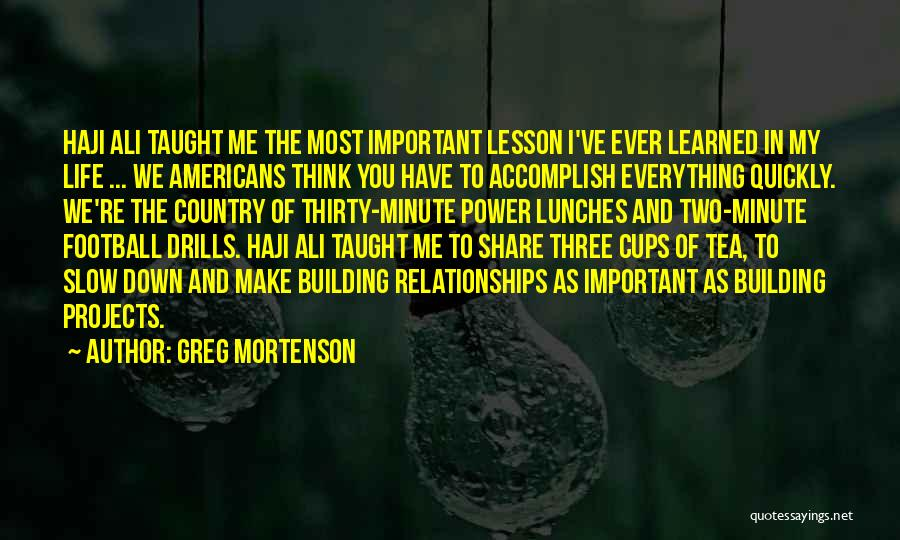 Drills Quotes By Greg Mortenson