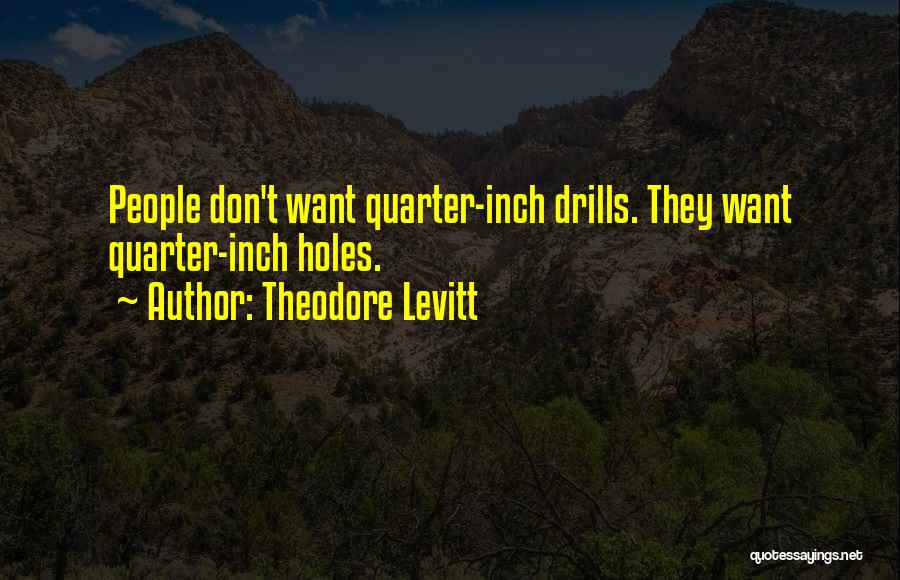 Drills Quotes By Theodore Levitt