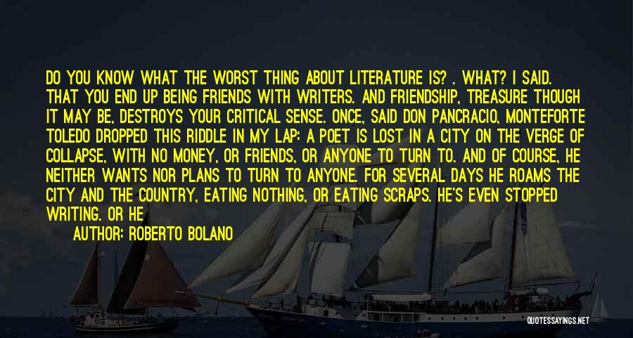 Dropped Friendship Quotes By Roberto Bolano