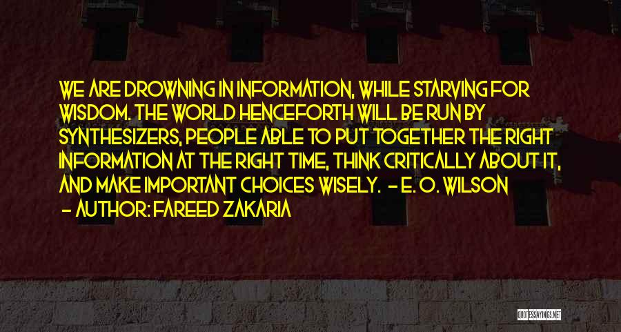 Drowning Out The World Quotes By Fareed Zakaria