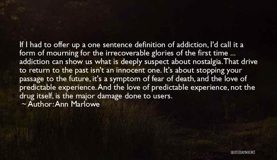 Drug Addiction Recovery Quotes By Ann Marlowe