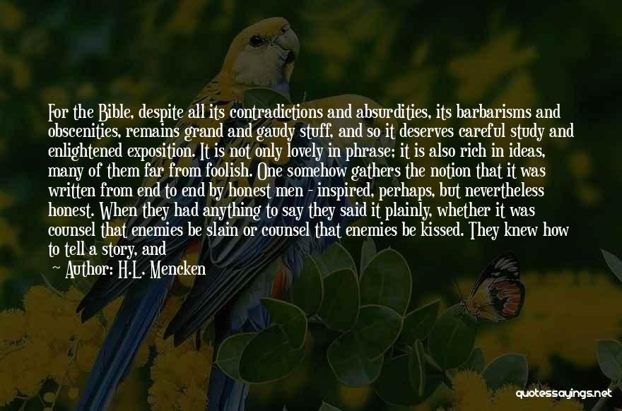 Dubious Bible Quotes By H.L. Mencken