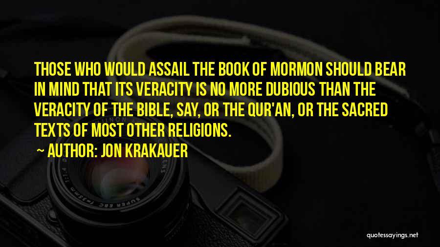 Dubious Bible Quotes By Jon Krakauer
