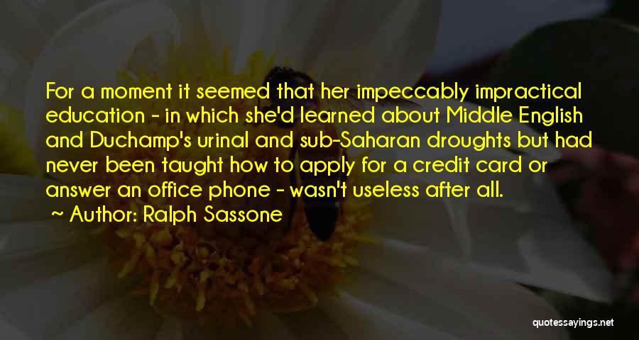 Duchamp Quotes By Ralph Sassone