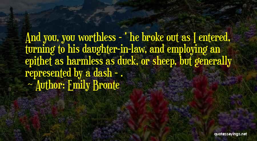 Duck Quotes By Emily Bronte