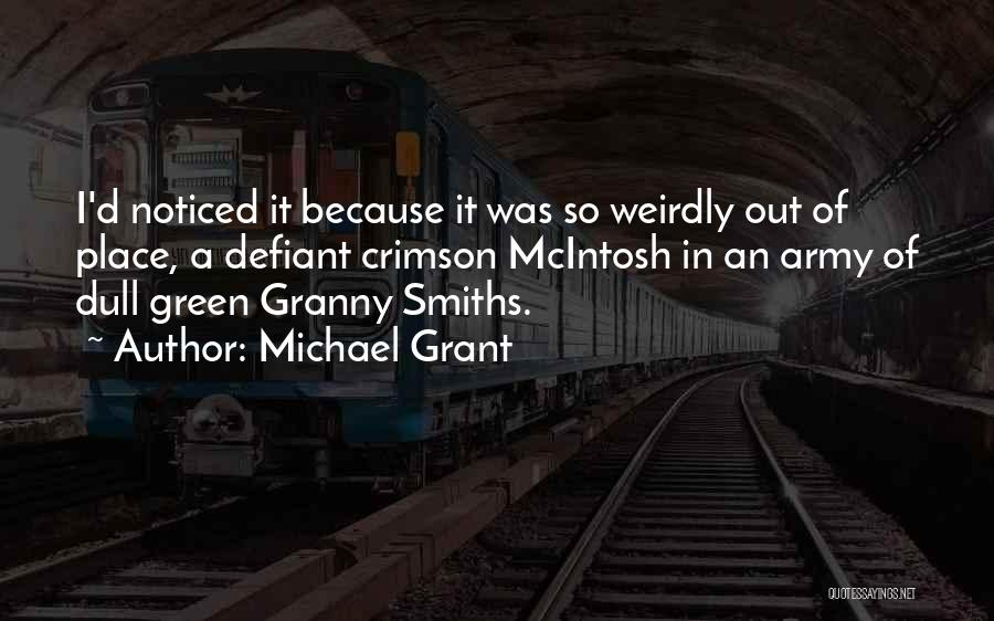 Dull Evening Quotes By Michael Grant