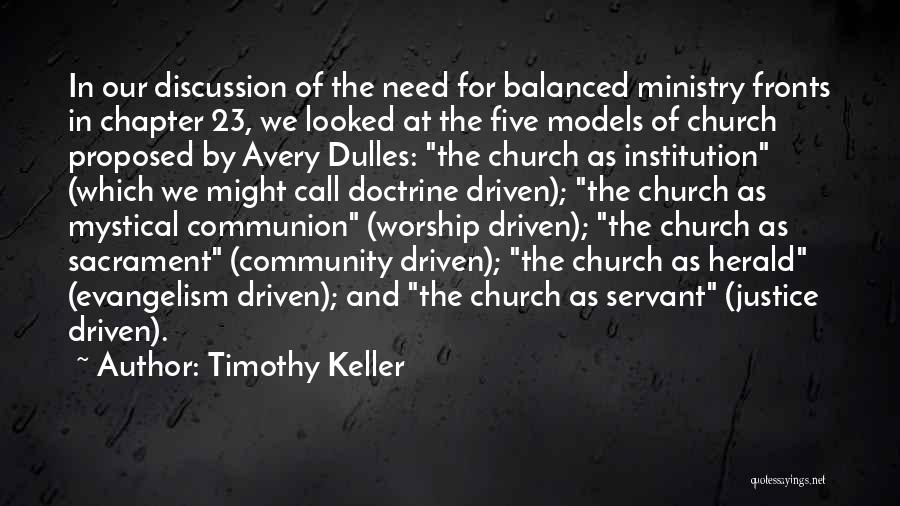 Dulles Quotes By Timothy Keller