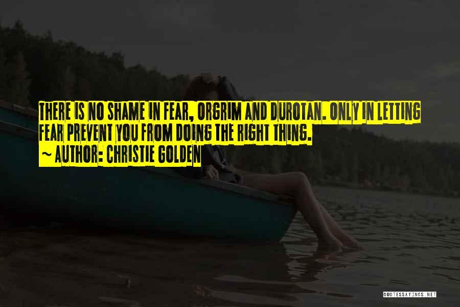 Durotan Quotes By Christie Golden