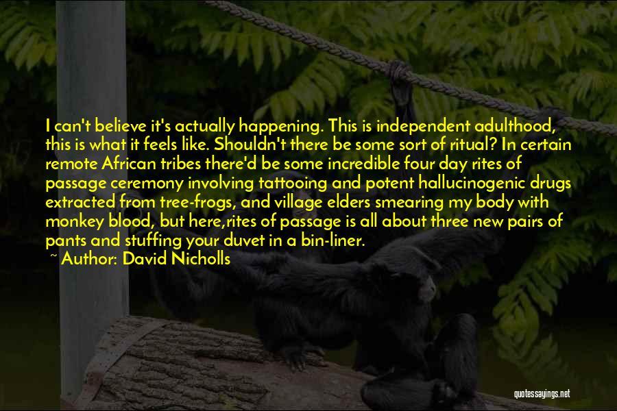 Duvet Day Quotes By David Nicholls