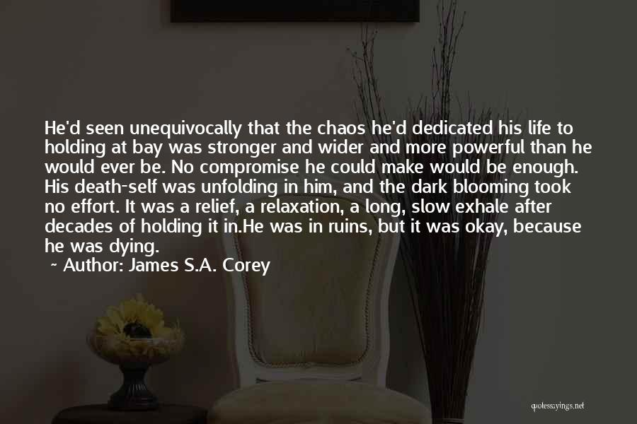 Dying A Slow Death Quotes By James S.A. Corey