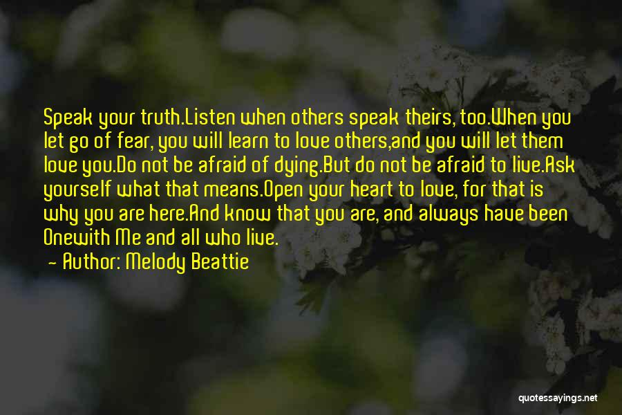 Dying And Letting Go Quotes By Melody Beattie