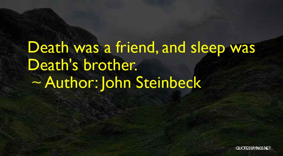 Dying For A Friend Quotes By John Steinbeck