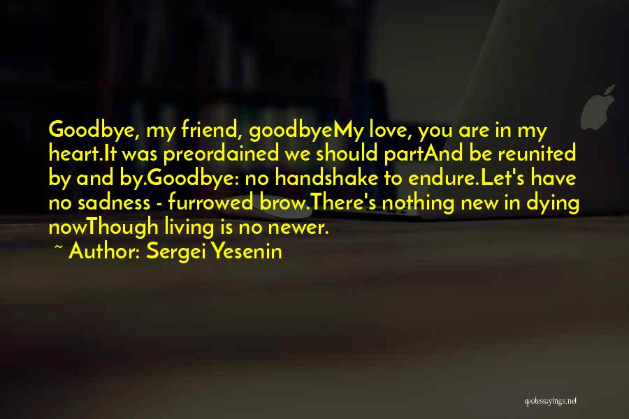 Dying For A Friend Quotes By Sergei Yesenin